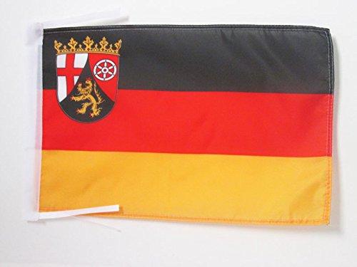 AZ FLAG Flagge Rheinland-Pfalz 45x30cm mit Kordel - Rheinland-Pfalz Fahne 30 x 45 cm - flaggen Top Qualität