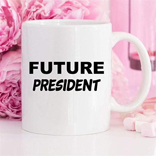 Taza de café del futuro presidente, regalos del futuro presidente, ideas de regalos para mujeres o hombres presidente, futuros líderes, taza de graduación, graduado de la facultad de derecho