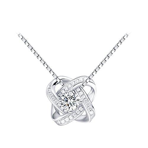 Pendientes Mujer, Pendientes Plata, Pendientes Mujer Plata, el regalo perfecto para toda la vida (Collar)