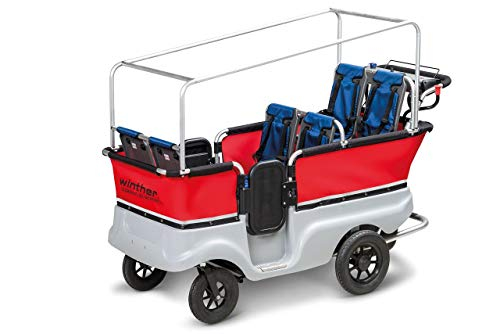 Unbekannt E-Turtle Kinderbus Basic für 6 Kinder von Winther (E-Turtle Bus / E-Turtlebus / E-Kinderwagen) / mit Elektromotor!