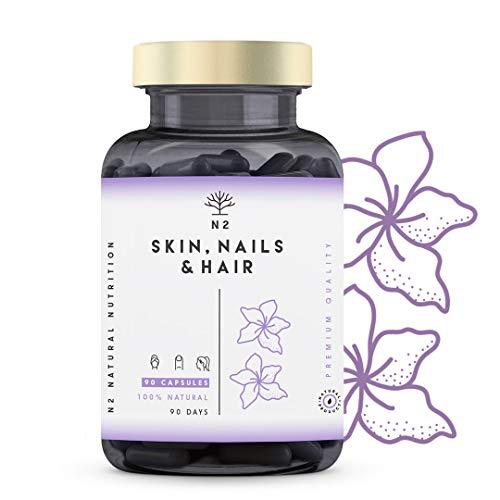 Hair Skin and Nails Supplement Biotin Hair Growth Nails Beard and Skin...