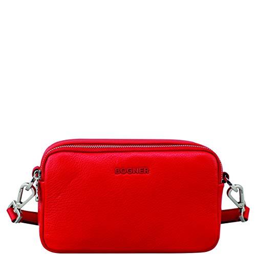 Bogner Damen Andermatt Avy Shoulderbag Xshz 1 Schultertasche, Rot (Red), 7x13x21 cm