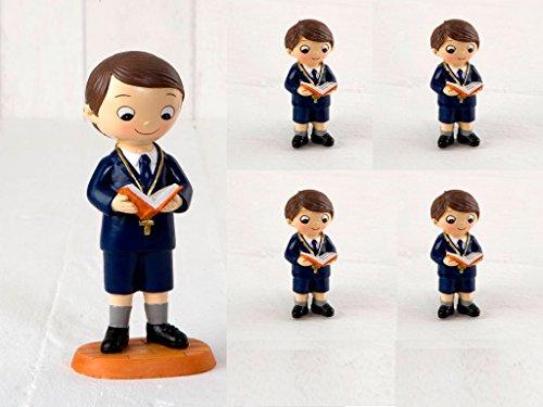 Pack de 24 Imanes niño Comunión pantalón corto y figura tarta a juego