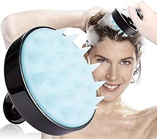 Shampoo Brush Siliscrub Brush, 2 Pack Hair Scalp Massager Kicosy Hair Shampoo Massager Brush Body Washing Massager Silicone Comb,Black