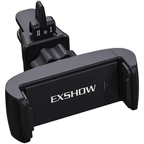 EXSHOW Soporte Móvil Coche Ventilación, Soporte Rejilla de Aire, Universal Soporte Smartphone para iPhone XS XR X 8 7 Plus 6 6s 5s 5c 5, Samsung S9 S8 S7 S6 Note 8 Huawei p20 p10 Sony etc.