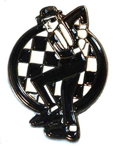 Anstecknadel aus Metall und Emaille mit Motiv Mod Checkers Ska Dance (Chequers)