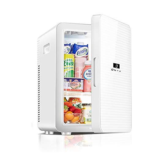 Nevera Coche, Mini Refrigerador Portátil con Control Temperatura Digital Refrigerador Compacto Calentador Refrigerador para Oficina Coche Cuidado La Piel Medicamentos Leche
