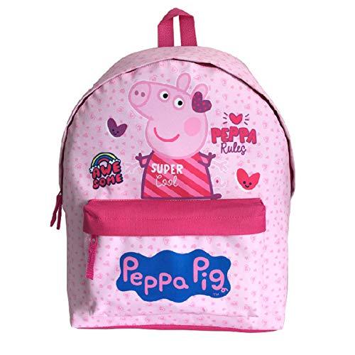 Peppa Pig - Mochila escolar para niñas, color rosa