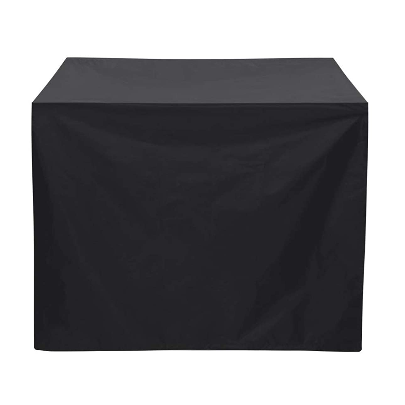 カーフありがたい母性ファニチャー カバー ポリエステル防水BBQカバーアンチダスト雨UVバーベキューグリル家具カバー 屋外用家具カバー (色 : Black, Size : 80x66x100cm)