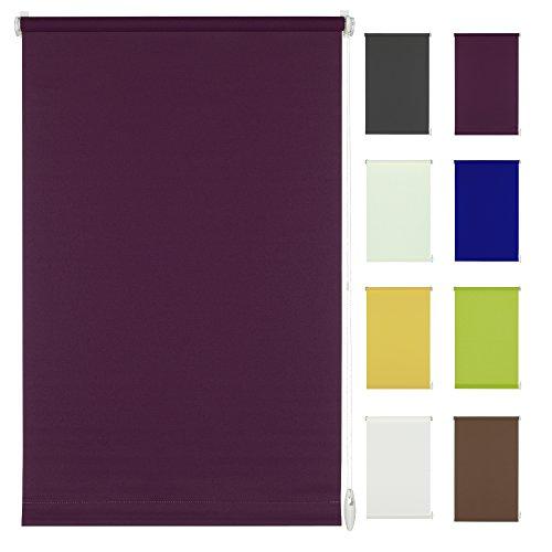 Seitenzug-Rollo Ohne Bohren Easy-Fix Klemmfix (140 x 150 cm, violettblau)
