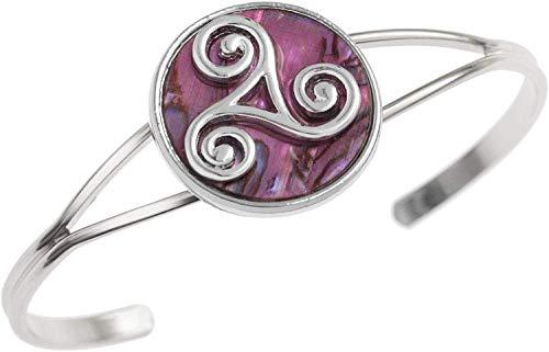 Tide Jewellery Armreif mit keltischem Triskele, Paua-Muschel, in Einer Box