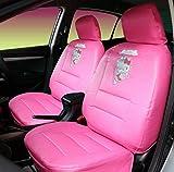 Hello Kitty - Fundas de asiento para coche, diseño de gatito, color rosa