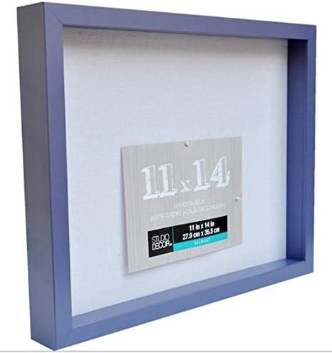 11 X 14 Purple Max 58% OFF 4 years warranty Shadow Box Display 1 Case Heavy Inch Frame W Wood