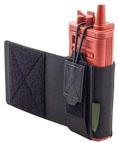 WARRIOR - A.S. Pochette radio Adustable avec bande Velcro découpée au laser, Multicam.
