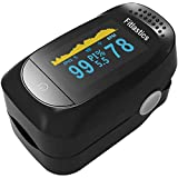 Fitlastics Fingertip Pulse Oximeter Machine with Dual Color OLED, Alarm Function, SpO2 Oxygen Levels, Heart Rate, Perfusion Index Monitor