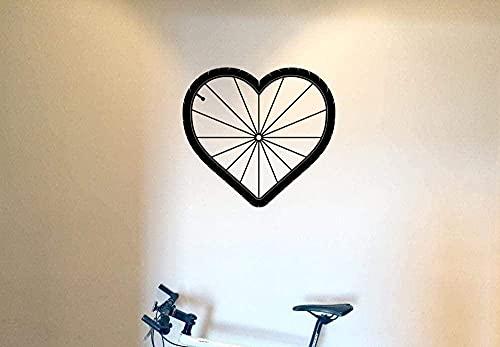 Vinilo Pegatinas De Pared Decoración De La Pared Pegatinas De Bricolaje Neumáticos Decoración Del Hogar Sala De Estar Arte De La Pared Bicicleta De Montaña Deportes 56X56Cm