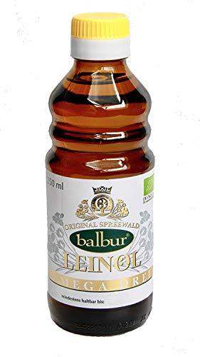 Balbur-Leinöl (Bio) aus dem Spreewald, erste Kaltpressung, naturbelassen, ungefiltert, bis zu 58% Omega-3 (250 ml, DE-ÖKO-034)