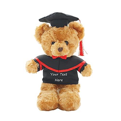 Peluche de Oso de Peluche Personalizado de graduación, Texto e Imagen Personalizados, Regalo de graduación para la Universidad, la Escuela Secundaria, la Escuela Secundaria, la Escuela Secundaria