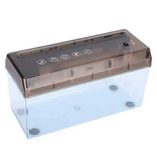 4,5 x 10,8 Zoll USB-Elektro-Aktenvernichter zum Zerkleinern von A4-Papier Desktop Mini rutschfeste Papierschneidemaschine Office Home School Verwendung