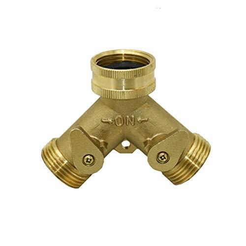 "WAQZ Pipeline Connection Brass 3/4"" Female 2-Way Garden tap Water Splitter 3/4"" Male Y Irrigation Valve Garden Hose Splitter Watering 1pcs Durable (Color : A)"