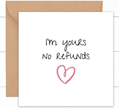 Happy Wedding Anniversary Card Cute Handmade Cards for Husband Wife Couple Fianc Boyfriend Girlfriend product image