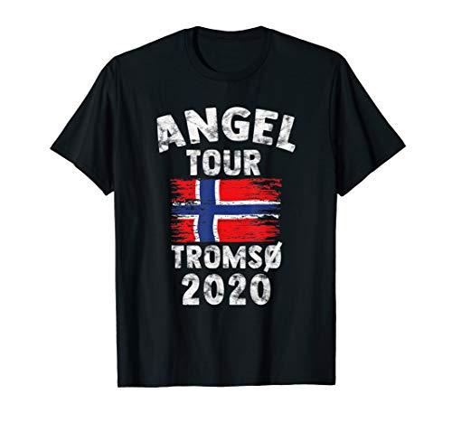 Tromsö 2020 - Angel Tour nach Norwegen mit Flagge T-Shirt