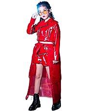 ダンス衣装 キッズ ヒップホップ 原宿系 レザージャケット 韓国子供服 キッズ 秋冬アウター 子ども服 革ジャン 合皮 パンツセット おしゃれ ジャズダンス 女の子 セパレート オシャレ hiphop jazz
