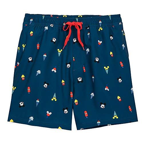 Disney Mickey Mouse Summer Fun Swim Trunks for Men, Size M