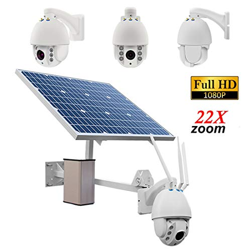 22X Zoom Outdoor Solar Power bewakingscamera met accu 1080P H.264 8mm lens waterdicht Wireless Night Vision Motion Detection P2P bewaking