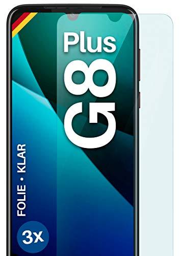 moex Protector de pantalla transparente compatible con Motorola Moto G8 Plus – Protector de pantalla transparente, protector de pantalla HD, fino resistente a los arañazos, 3 unidades