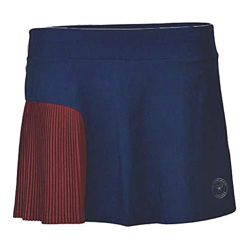 Babolat Performance Wimbledon - Falda para Mujer (13 Pulgadas), Color Azul Oscuro, Rojo Oscuro, Talla XS