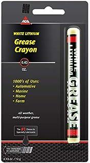 AGS White Lithium Crayon, Grease Stick.43 oz - Automotive, Marine, Home, Farm
