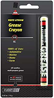 AGS White Lithium Crayon, Grease Stick, .43 oz - Automotive, Marine, Home, Farm
