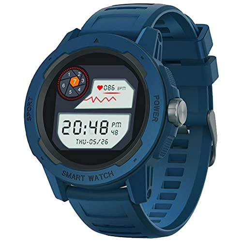 WWJJLL Relojes para Correr Al Aire Libre, Reloj De Aventura para Correr A Prueba De Agua IP67 Compatible con Monitoreo del Sueño, Control De Música, Reloj Multifunción,Azul