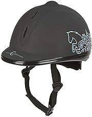 Covalliero VG1- Casco de equitación Unisex, Color Negro