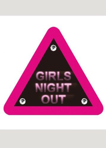 Pink Girls Night Out Warning Badge