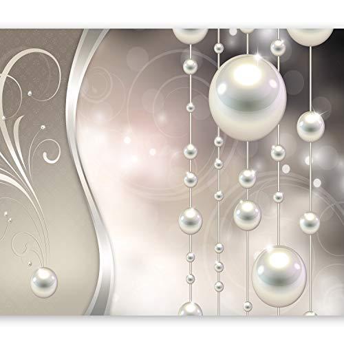 murando Fototapete 350x256 cm Vlies Tapeten Wandtapete XXL Moderne Wanddeko Design Wand Dekoration Wohnzimmer Schlafzimmer Büro Flur Abstrakt Ornament Perlen f-A-0170-a-b
