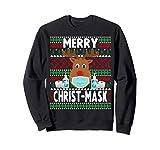 Natale 2020 - Divertente maschera natalizia con renna Felpa