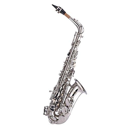 Kaizer Alto Saxophone E Flat Eb Black Lacquer Body Gold Keys 1000 Series Sax Includes Case Mouthpiece and Accessories ASAX-1000BKGK