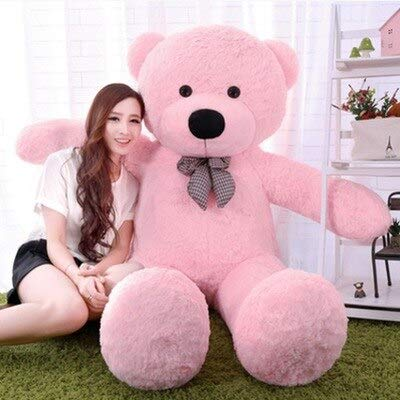 CLINGE Teddy Bear Skin Wholesale 200cm Big Size Classic Teddy Bear Plush Skin Bear Coat Birthday Gift Valentine Gift for Girls-Pink