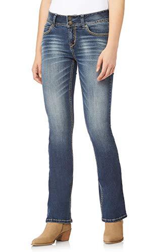 WallFlower Women's InstaStretch Luscious Curvy Bootcut Jeans, Magic, 3 Short