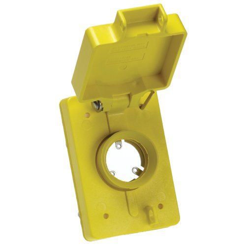 Woodhead 6503 Watertite Flip Lid Receptacle Replacement Cover - Single, Straight Blade, FS/FD Box Flip Lid Cover with NEMA 5-15, 15A/20A