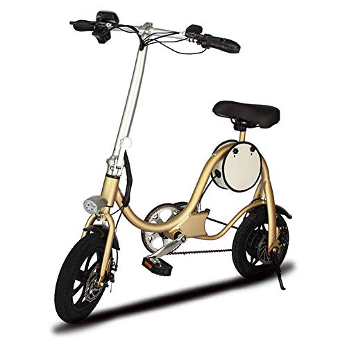 YLJYJ Folding Electric Bike,Mini Pedal Electric Car Ultra Lightweight Scooter Small Battery Car Portable Folding Travel Battery Car Adult Two(Exercise Bikes)