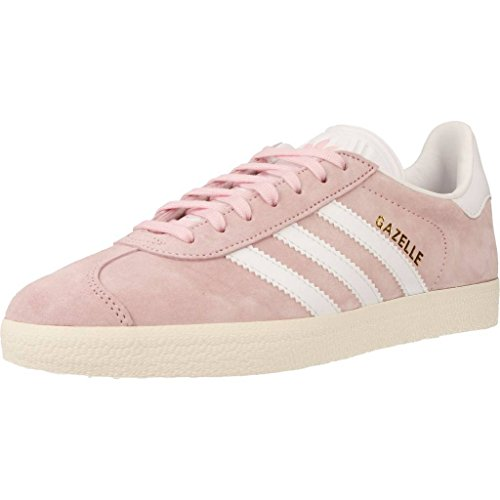 adidas Gazelle W, Zapatillas de Deporte Mujer, Rosa (Wonder Pink/Footwear White/Gold Metallic), 39 1/3 EU