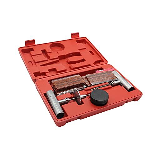 Funien Kit de reparación de neumáticos de 57 Piezas,57 Piezas de reparación de Llantas de reparación de Llantas Desmontables para Camiones de automóviles, Motocicletas, enchufes para el hogar