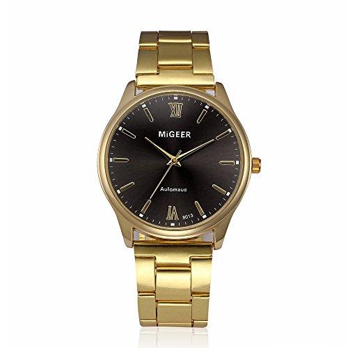 Mode Herren Analog Quarz Armbanduhr Edelstahlband Wasserdicht Sport Uhr Geschäft Uhren Männer Armbanduhr