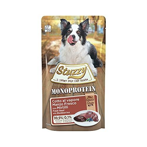 Stuzzy, Monoprotein Grain & Gluten Free, Cibo Umido per Cani Adulti con...