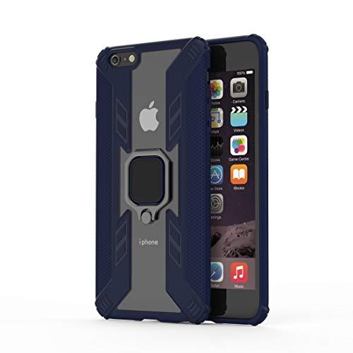 Reemplazo extraíble Funda protectora de TPU + PC Iron Warrior a prueba de golpes for iPhone 6 Plus, con accesorio de soporte de rotación de 360 grados (Color : Blue)
