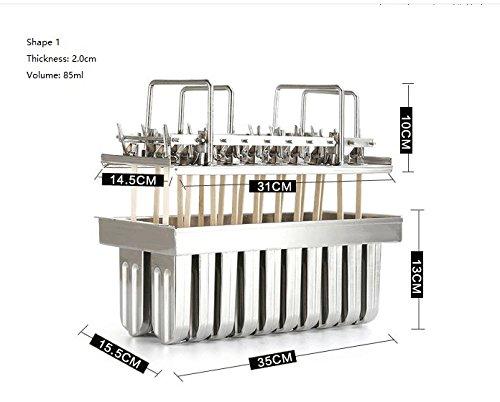 Eis Schimmel Eis am Stiel Schimmel rostfreier Stahl nur für Gefrierschrank Einsatz 5 verschiedene Größe für Sie wählen