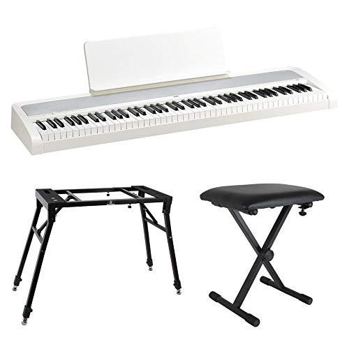 KORG B2 WH 電子ピアノ Dicon Audio 4本脚型 キーボードスタンド ベンチ 3点セット